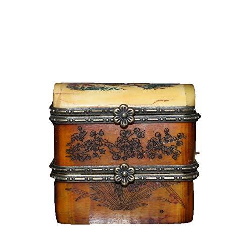 Fashion158 ambachtelijke collectie antieke snijwerk halve botten half hars dubbele sieraden doos Rouge Box decoratie