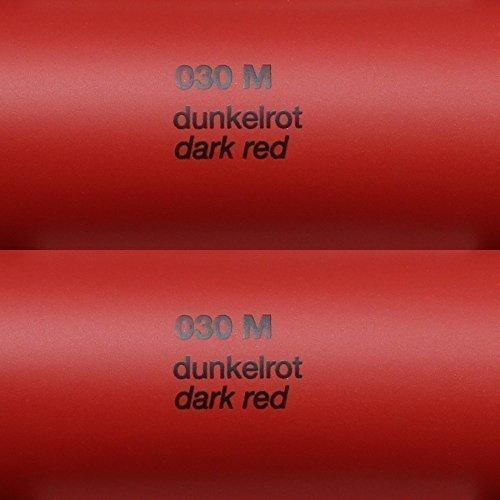 Unbekannt 5,39€/m² Rapid Teck® Matt Folie - 030 Dunkel Rot - Klebefolie - 5m x 63cm - Folie Matt Plotterfolie - Klebefolie selbstklebend - auch als Moebelfolie - Dekofolientage