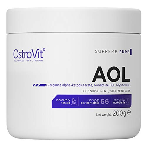 Ostrovit AOL 200g   Pure Unflavored   L-Arginina AAKG L-Ornitina L-Lisina   Pompa Muscolare e Crescita