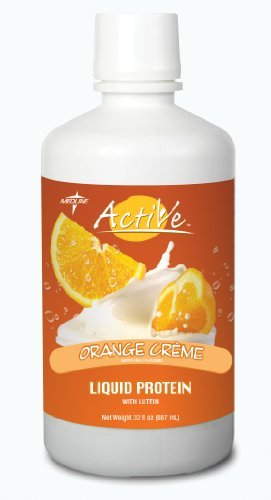 Active Protein Liquid with Lutein Nutritional Supplement, SUPPLEMENT,PROTEIN,LIQ,ORANGE CRM,LUTEIN - 1 CS, 4 EA