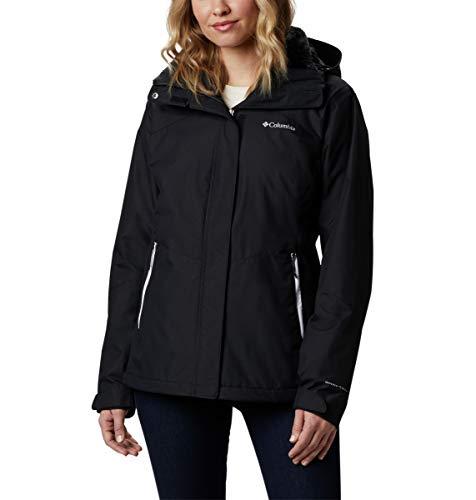 Columbia Women's Bugaboo II Fleece Interchange Winter Jacket, Waterproof & Breathable , Black, 3X