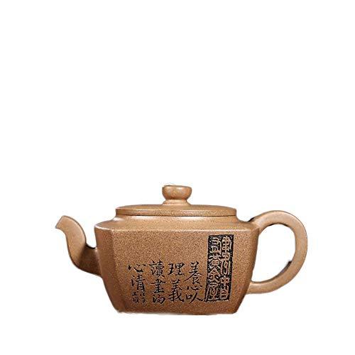 YF-SURINA Juego de té Tetera Tetera Mineral hecho a mano completo Sección de sésamo Barro Yangxin Square Pot,Sección de barro de sésamo