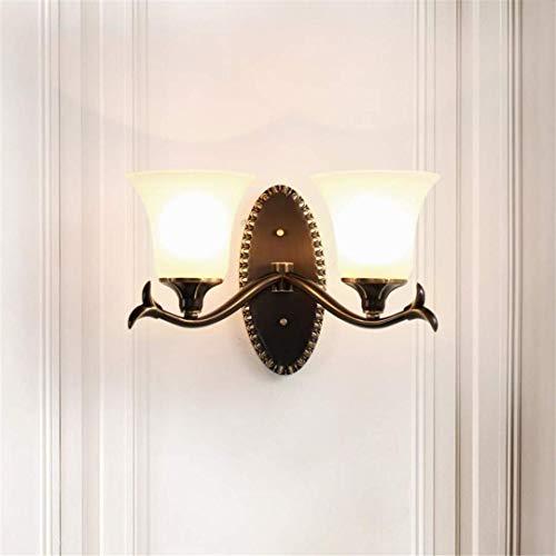 L-C Plafondlamp Creatief Alle Koper Zwart Wrijf Goud Wandlamp Woonkamer Slaapkamer Nachtlampje Tv Muur Europese Lampen Amerikaanse Keramische Wandlamp