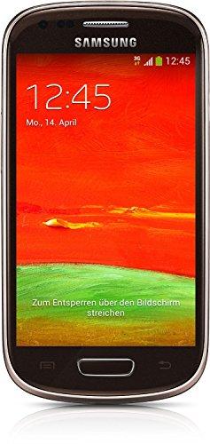 Samsung Galaxy S3 mini (GT-I8200N) Smartphone (10,2 cm (4 Zoll) Touchscreen, 5 Megapixel Kamera, 8GB Speicher, microSDHC-Kartenslot, Android 4.2) - Braun [EU-Version]