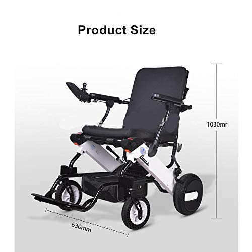Lowest Prices! GFKSMS High Power Foldable Electric Power Wheelchair Suitable for The Elderly and Dis...