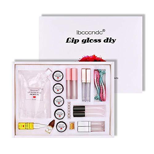 cedarfiny Matte/Feuchtigkeitsspendende DIY Lipgloss Making Kit Lip Polish Base Tube Sichere handgemachte kosmetische Make-up-Tool-Set