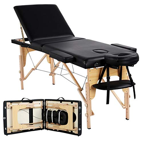 Yaheetech Massage Table Portable Professional Beauty Spa Salon Couch Bed...