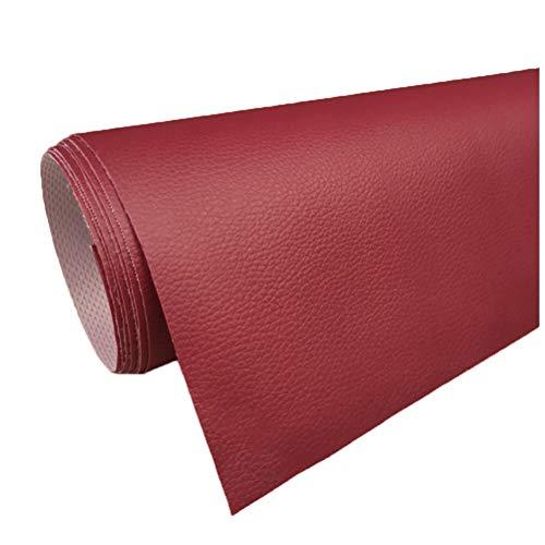 cuero para tapizar Tela de Imitación de Cuero Polipiel 160cm de Ancho Vinilo Tela de Cuero Tapicería Material Texturizado Tela de Cuero Tapizado Fondo de la Cabecera Tela del Sofá ( Color : 15# )