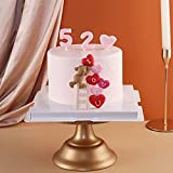 Huathy Handmade Bear Cake Topper with Heart Love for Sweet love Wedding Valentine's Day Birthday Cake Decorations