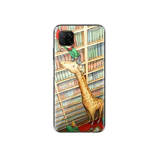 Cute Animal Cartoon Giraffe für Huawei P40 P30 P20 P10 P9 P8 Lite E 5G 2017 2019 Pro Plus Handyhülle Stil 03 für Huawei P20 Lite