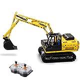 YOU339 Juego de construcción de maqueta de excavadora de orugas 2,4 G RC, modelo MOC 544, bloques de construcción, juguete para Lego