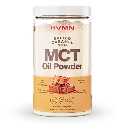 H.V.M.N. MCT Oil Powder - Keto Creamer Powder, for Keto Coffee Creamer, Keto Shake - Pure C8 MCT Oil from Acacia Powder, MCT Oil Keto Diet Powder - 25 Servings (Salted Caramel)