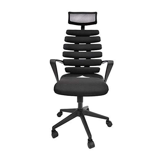 LULUTING Bürodrehstuhl mit Verstellbarer Armlehne Lendenwirbelstütze Kopfstütze Swivel Aufgabe Schreibtisch Stuhl Ergonomischer Computer Stuhl High Back Netz-Bürostuhl Computer-Bürostuhl