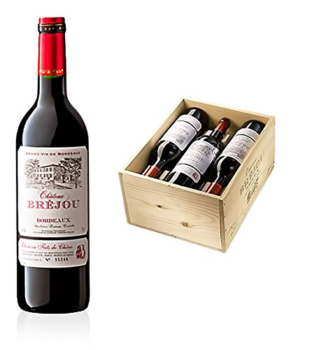 Chateau Bréjou Bordeaux Rotwein AOC - 6 Flaschen in Original-Holzkiste