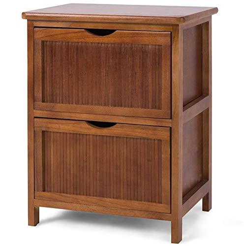 Mesilla de noche Mesa de noche 2 cajón de la noche de la cama de la cama de la cabecera de la mesilla de la cabina del armario de la mesa de la mesa del lado de la mesa para la sala de estar muebles d
