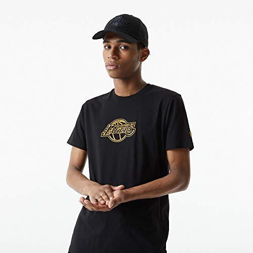 New Era NBA LOS ANGELES LAKERS Chain Stitch Tee T-Shirt, Größe:XXL