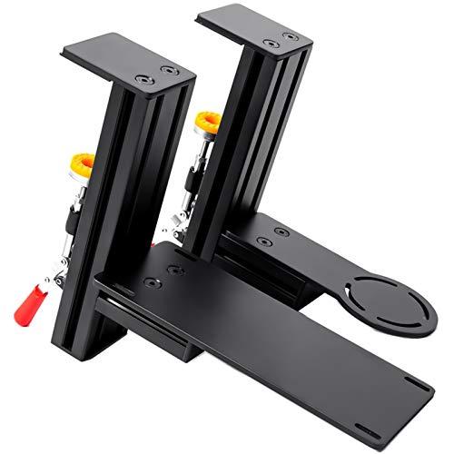 Meza Mount Schreibtischhalterung – Ergonomische Game-Controller-Halterung, Tischhalterung für Flight Sim-Joystick kompatibel mit Thrustmaster Hotas Warthog weichen Gummi-Pads und Montageschrauben