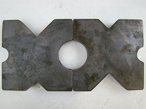 (PAIR) 9.75x9.75 Arbor Plates 1.5