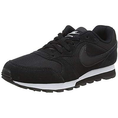 Nike MD Runner 2, Zapatillas de Running Mujer, Negro (Black / Black-White), 36