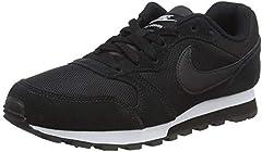 Nike MD Runner 2, Zapatillas de Running Mujer, Negro (Black / Black-White), 41