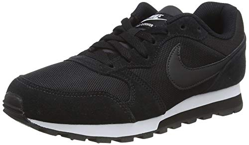 Nike Md Runner 2 Damen Sneakers, Black (Black/Black-White), 43 EU