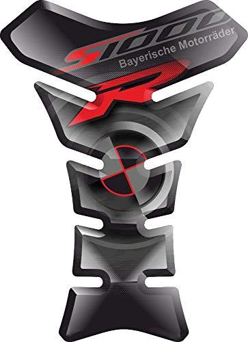 PARASERBATOIO ADESIVO, TANKPAD, TANKSCHUTZ, PROTECTION DE RESEVOIR, RESINATO EFFETTO 3D compatibile con BM.W S1000R S1000 S 1000 R BMWS1000 BMWS1000R S-1000R S-1000 v3