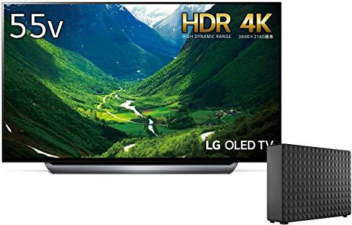 LG 55V型 有機EL テレビ OLED55C8PJA 4K ドルビービジョン対応 ドルビーアトモス対応 2018年モデル(外付けハードディスク付き)