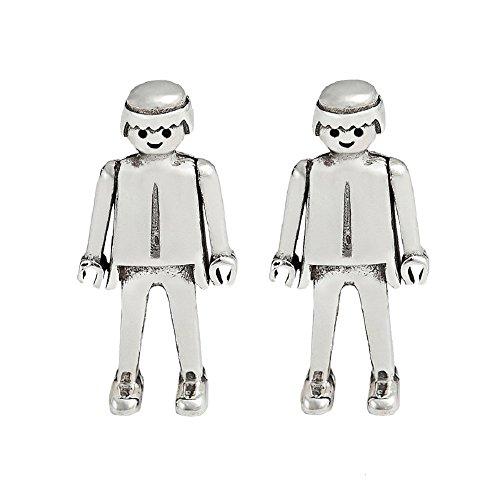 Life is Laf - Pendientes Playmobil Esencia en plata de ley