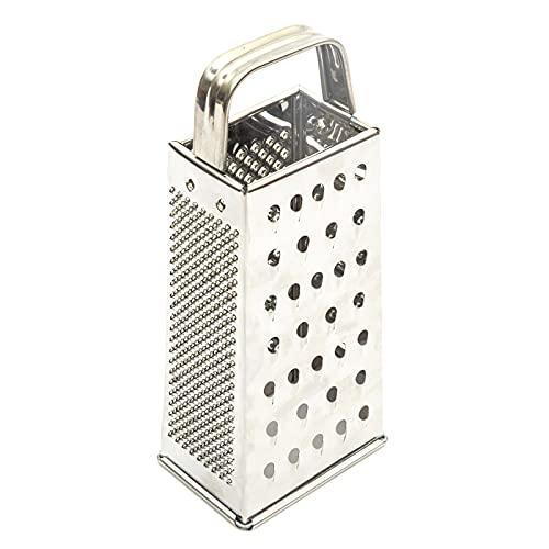 4 caras caja queso rallador acero inoxidable 8 pulgadas cocina vegetal cortador
