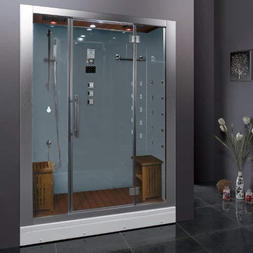 Ariel Platinum DZ972-1F8-W Steam Shower Combo
