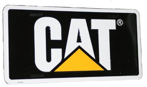Caterpillar CAT Black & Yellow Aluminum License Plate