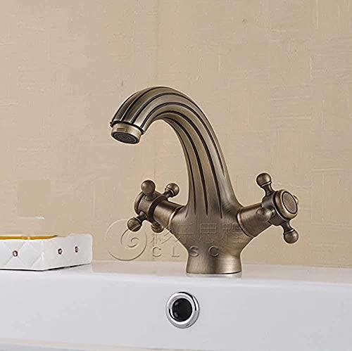 LUOFDCLDDD Mezclador de Cabezador de Agua Tap Moderno Moderno Moderno Tapas de Frueblo con el Cuerpo Cuerpo Antiguo Agujero de Cubierto de Cubierto Caliente Caliente Y Frío Mezclador Moderno de la Pa