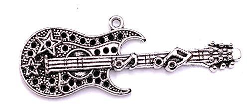 H-Customs Gitarre Rock Musik Instrument Charm Anhänger Kettenanhänger Bastelbedarf Schmuck