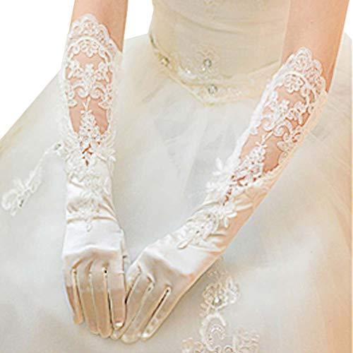 Gants de mariée mariage robe de soirée dentelle longs gants A05