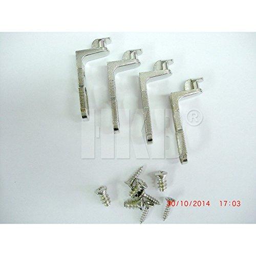 HKB ® 4 Stück Rückwandverbinder RV, für Rückwanddicke bis 5 mm, Druckguss vernickelt, mit Schrauben, Hersteller Hettich, Artikelnr. 1639
