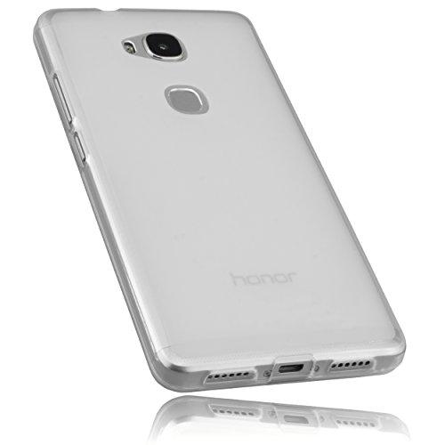 mumbi Hülle kompatibel mit Honor 5X Handy Case Handyhülle, transparent Weiss