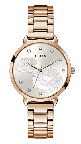 GUESS Women's Quartz Watch with Stainless Steel Strap, Silver, 16 (Model: GW0242L3)