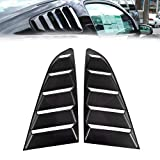 BUNKER INDUST Window Louver Fits for Ford Mustang 2015-2018,1 Pair Matte Black 5 Vents Sty...