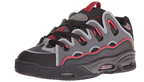 Zapatillas de skate para hombre D3 2001, negro / rojo / negro, 6 m US