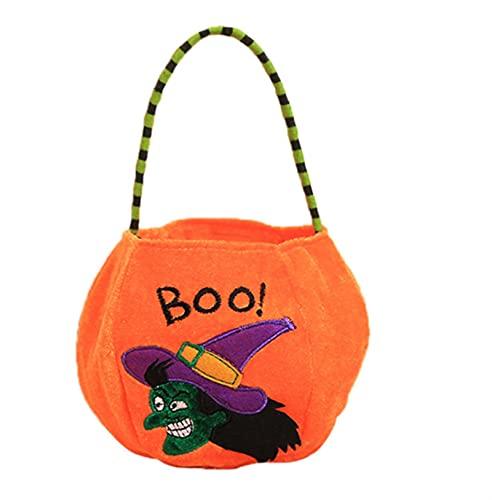 5 PCS Calabaza de Halloween Bolsa de mano de Halloween Props cesta no tejidas bolsa de caramelo Inicio Storgué TIANLILI (Color : A)
