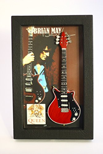 RGM8818 Brian May Queen Colección de guitarra en miniatura en el marco Shadowbox