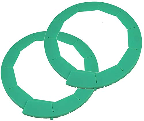 Silicone Pie Crust Shields 2 pack Adjustable Pie Protectors Green