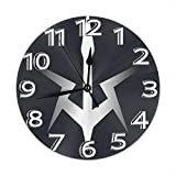 掛時計 壁掛け時計 アナログ クロック インテリア 丸型 サイレント ノベルティ コードギアス 反逆のルルーシュ プラチナ スタイル ロゴ? 印刷 掛置兼用 フラットフェイス ホーム ベッドルーム キッチン用 直径25cm 部屋装飾