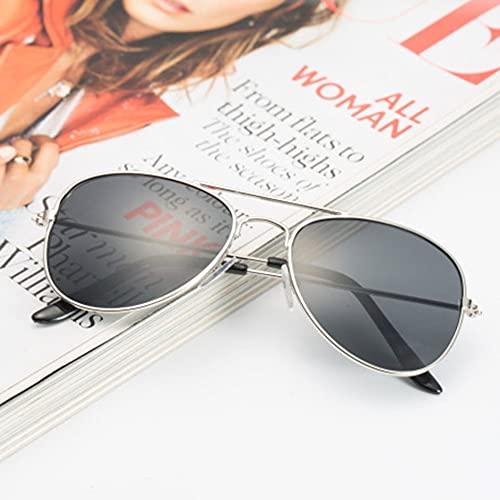 SENZHILINLIGHT Gafas de sol para niños Gafas de sol para niño niña espejo reflectante Cool Frog Round Lens