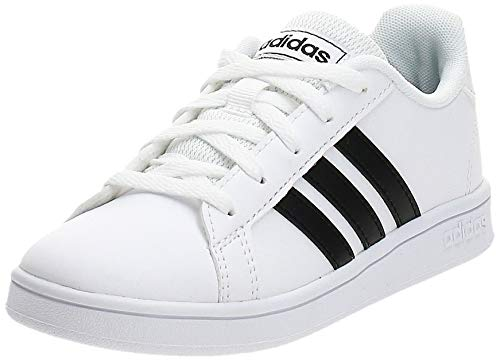 adidas Grand Court, Scarpe da Tennis, Blanc Noir Blanc, 35.5 EU