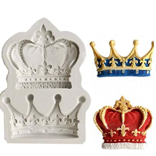 PiniceCore König Prinzessin Königin-Krone 3D-Silikon-Form-Fondant-Kuchen-Kuchen, die Werkzeuge Lehm Soap-Schokoladen-Form