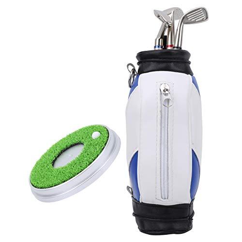 SALUTUYA Juego de Soporte para bolígrafo de Golf Duradero, práctico, como Regalo de Juego de Recuerdo(Blue and White)
