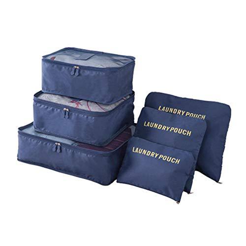 6/8 Uds Bolsas de viaje portátiles impermeables Ropa Organizador de equipaje Edredón Manta Bolsa de almacenamiento Maleta Bolsa de embalaje Cubo Bolsas-G112885A_United_States