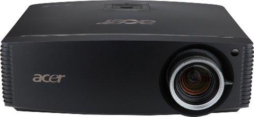 Acer P7500 DLP-Projektor (4.000 ANSI Lumen, Kontrast 40.000:1, Full HD 1920 x 1080 Pixel, Lens Shift, RJ45 Anschluss, 2 x HDMI mit HDCP, 1x 12V Trigger DC-out Leinwandsteuerung) schwarz