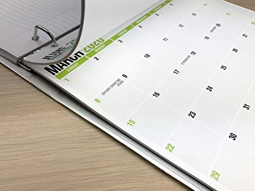 2020-2021 Monthly Calendar Pad for Desk, Wall or Binder, June 2020 to December 2021, 11 x 8.5 inches, Small Calendar, Thick Perforated Card Stock Paper, 2020-2021 Academic (19 Months)
